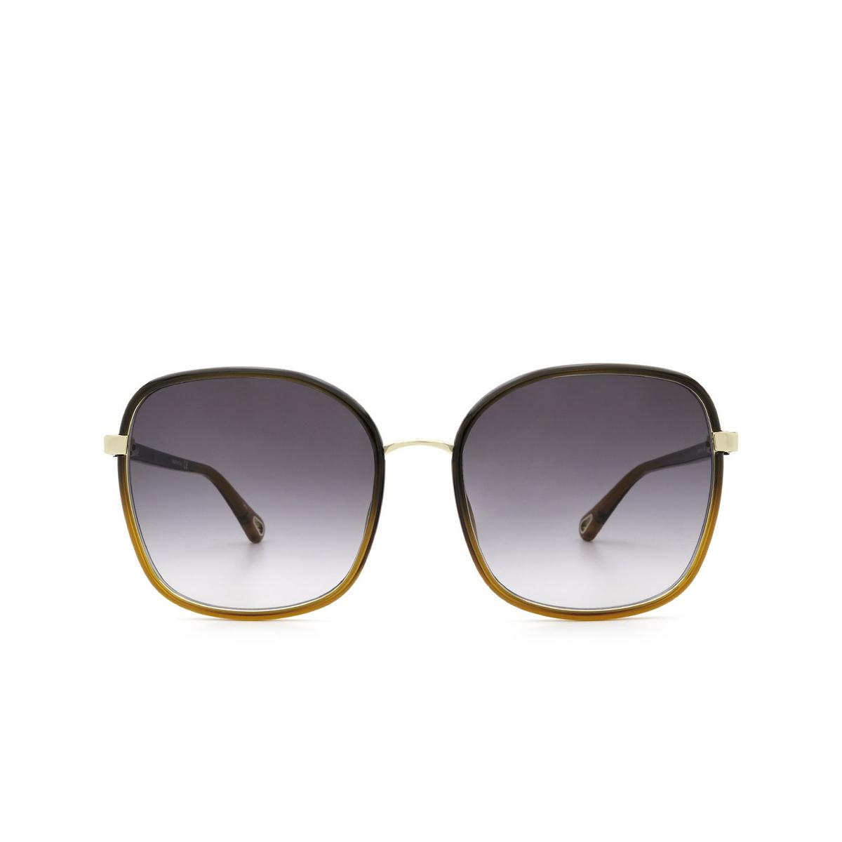 Chloé® Square Sunglasses: CH0031S color Black 005 - front view.