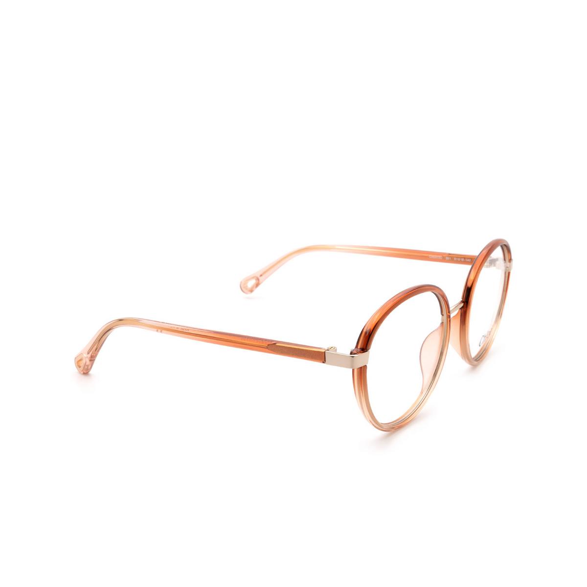 Chloé ® Round Eyeglasses: CH0033O color Orange 001.