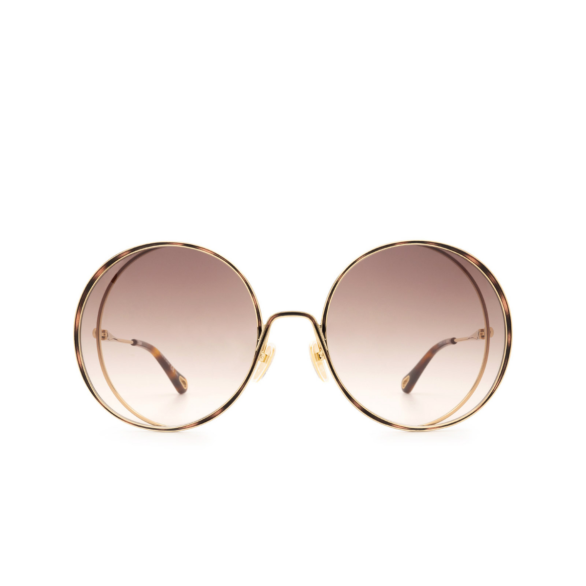 Chloé ® Round Sunglasses: CH0037S color Gold & Havana 001.
