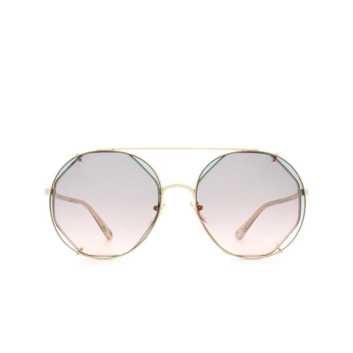 Chloé ® Round Sunglasses: CH0041S color Gold 001.