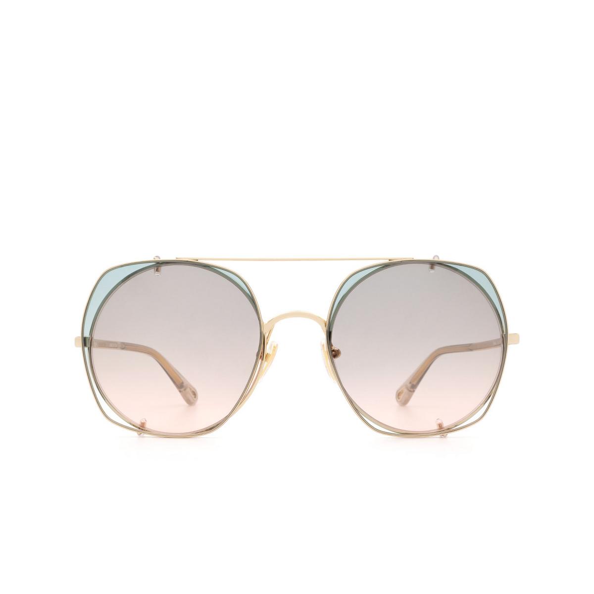 Chloé ® Square Sunglasses: CH0042S color Gold 001.