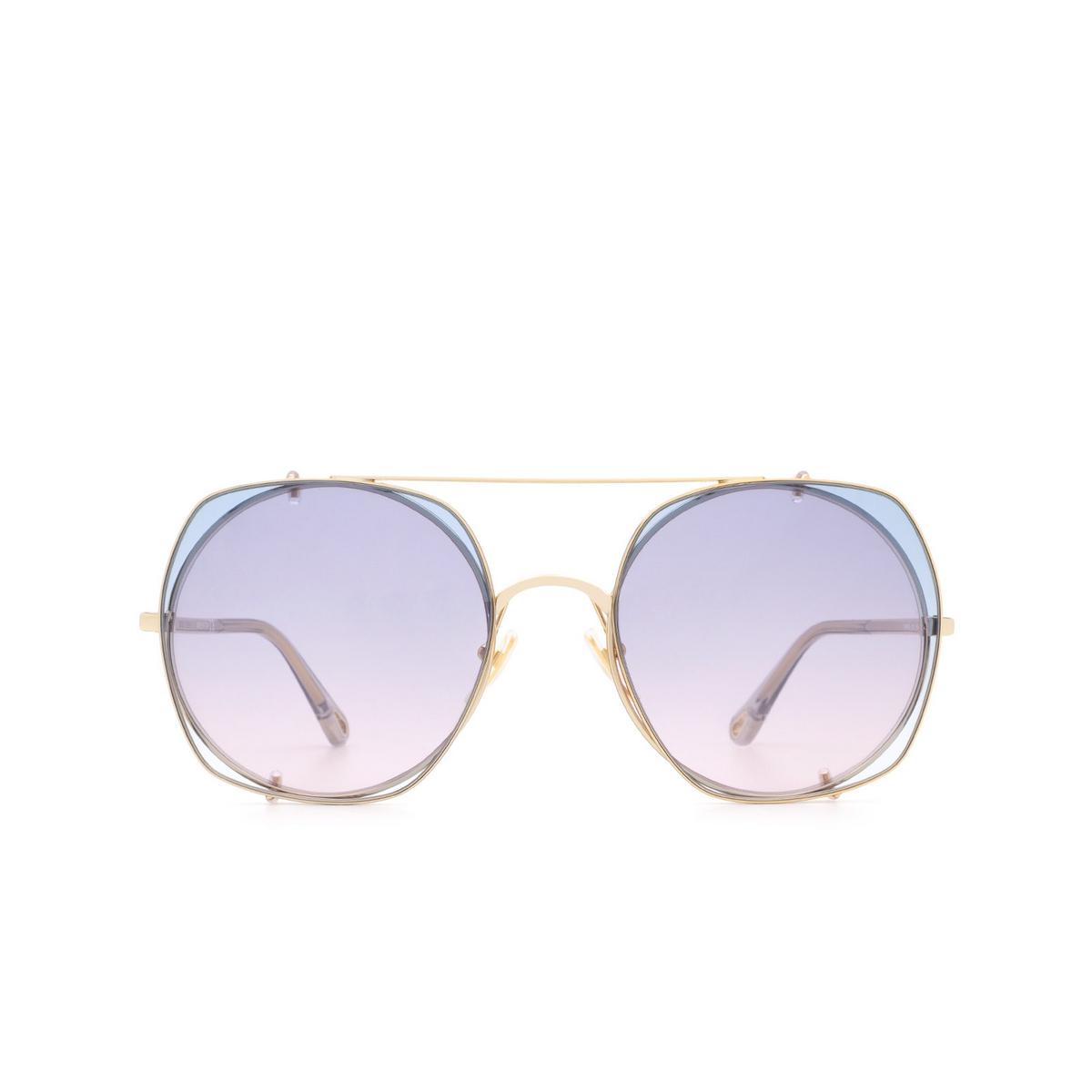 Chloé ® Square Sunglasses: CH0042S color Gold 002.