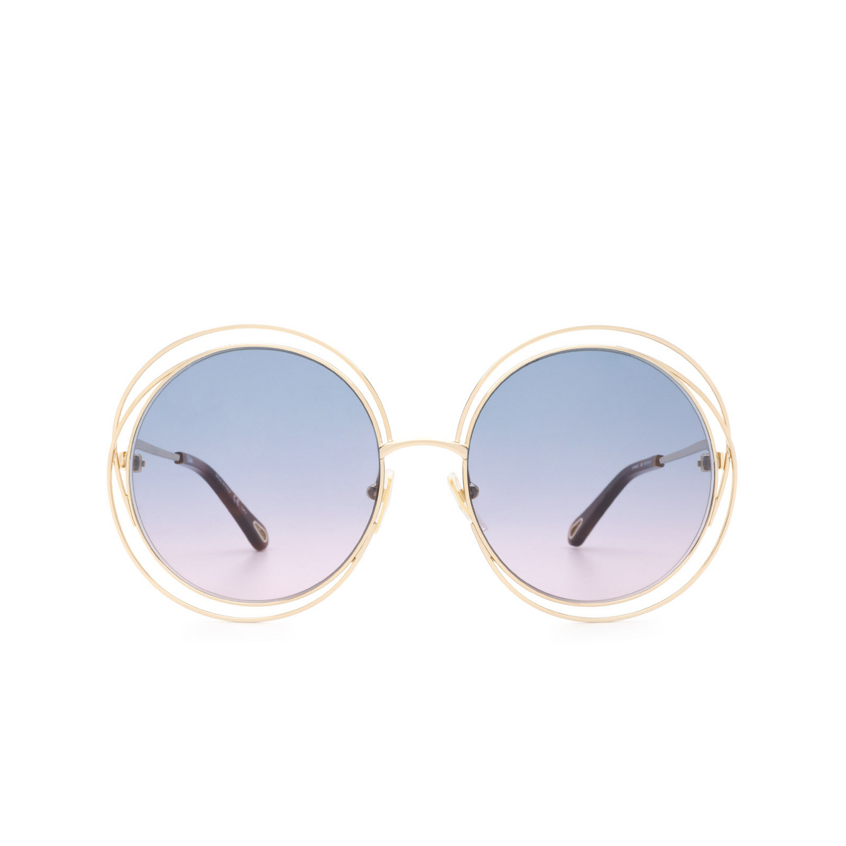 Chloé® Round Sunglasses: CH0045S color Gold 006 - front view.