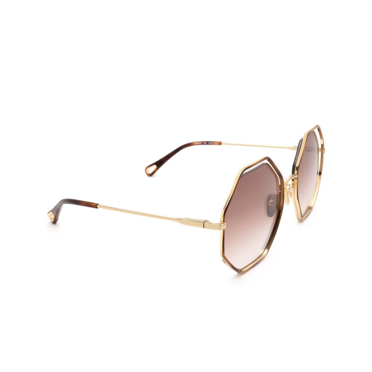 Chloé ® Irregular Sunglasses: CH0046S color Havana 004.