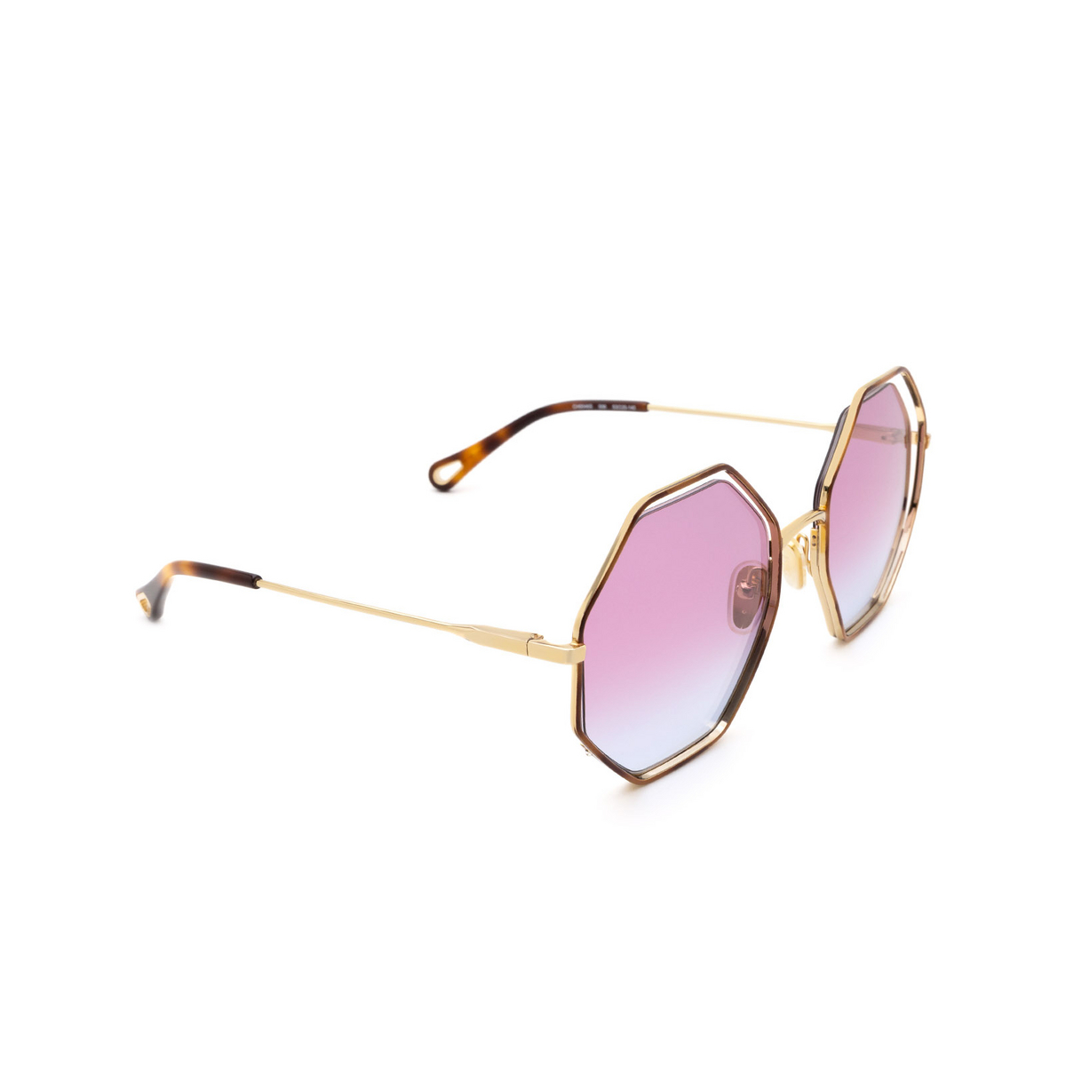 Chloé ® Irregular Sunglasses: CH0046S color Havana 006.