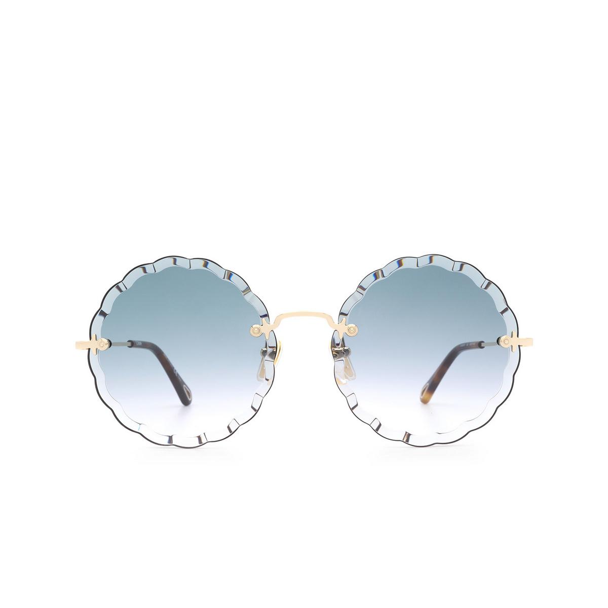 Chloé ® Irregular Sunglasses: CH0047S color Gold 002.
