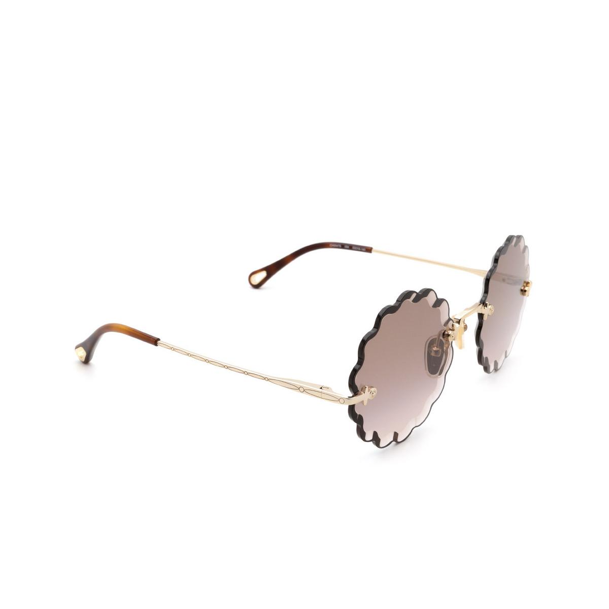 Chloé ® Irregular Sunglasses: CH0047S color Gold 004.