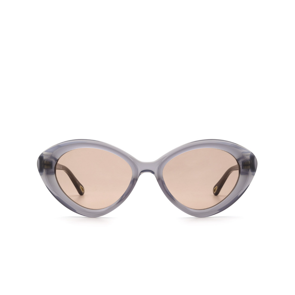 Chloé® Cat-eye Sunglasses: CH0050S color Grey 001 - front view.