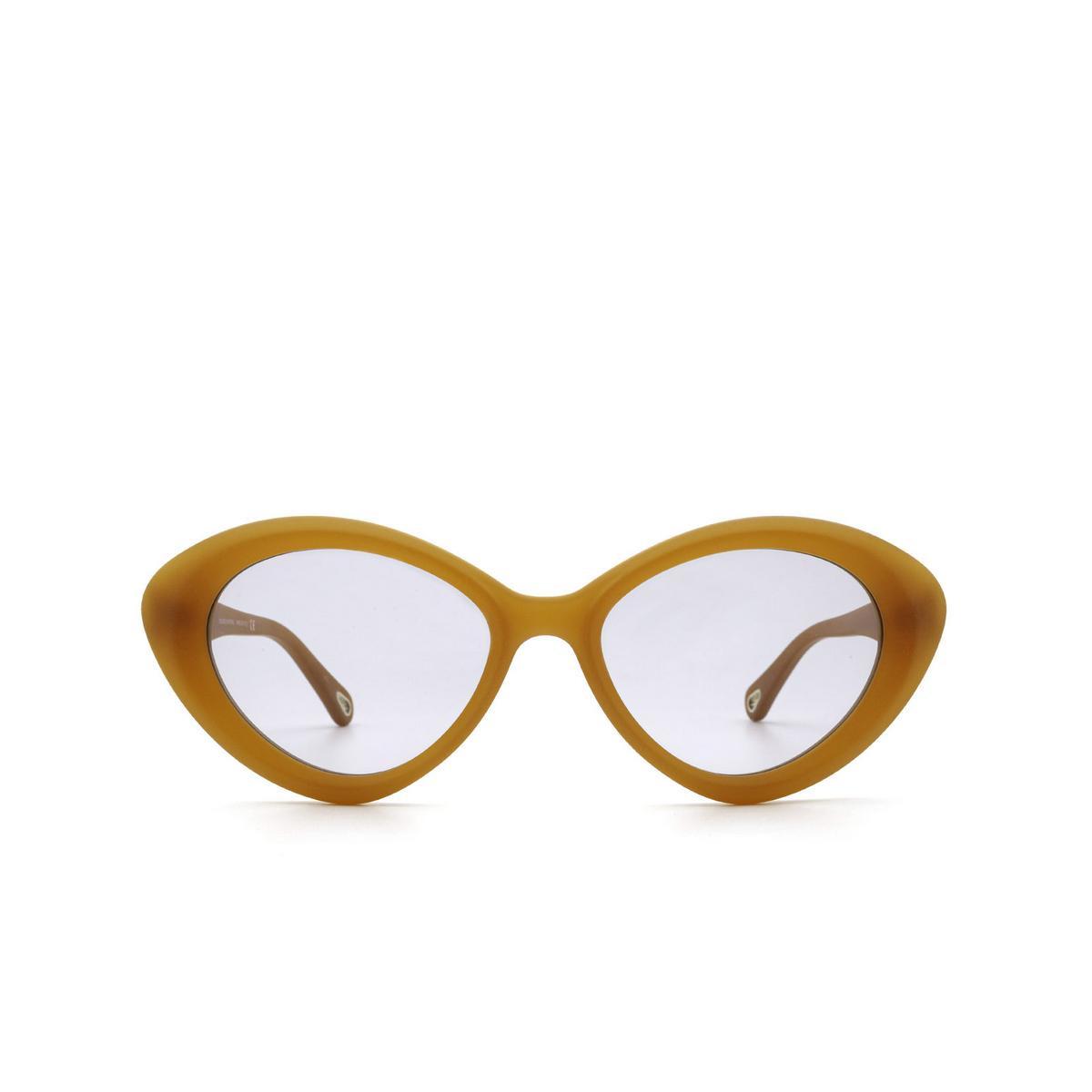 Chloé® Cat-eye Sunglasses: CH0050S color Orange 004 - front view.