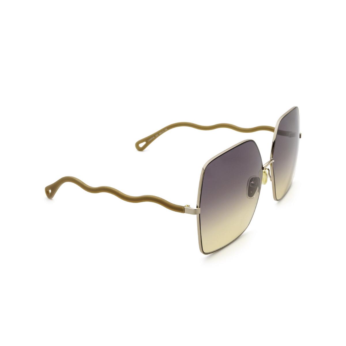 Chloé® Square Sunglasses: CH0054S color Beige 002 - three-quarters view.