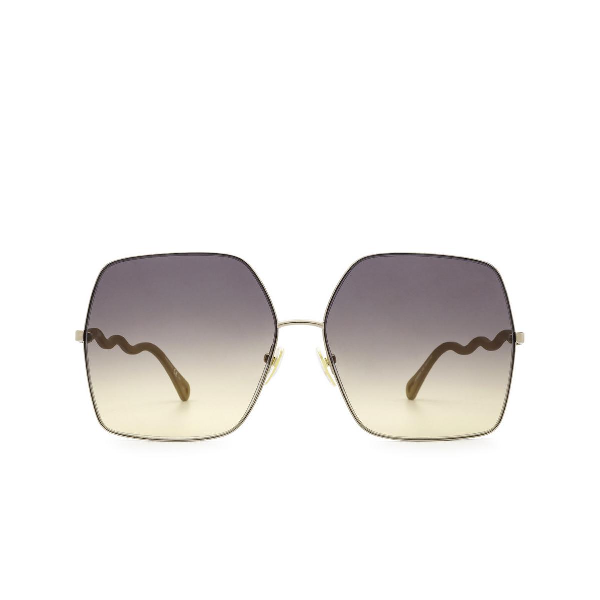 Chloé® Square Sunglasses: CH0054S color Beige 002 - front view.