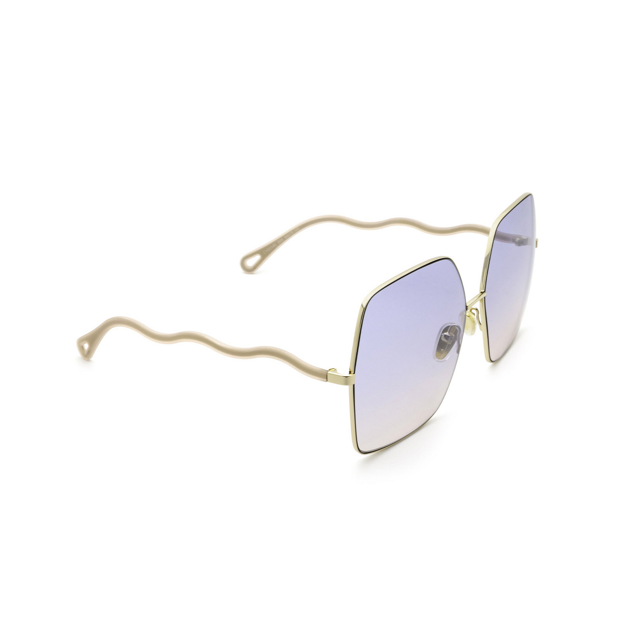 Chloé® Square Sunglasses: CH0054S color Gold 004 - three-quarters view.
