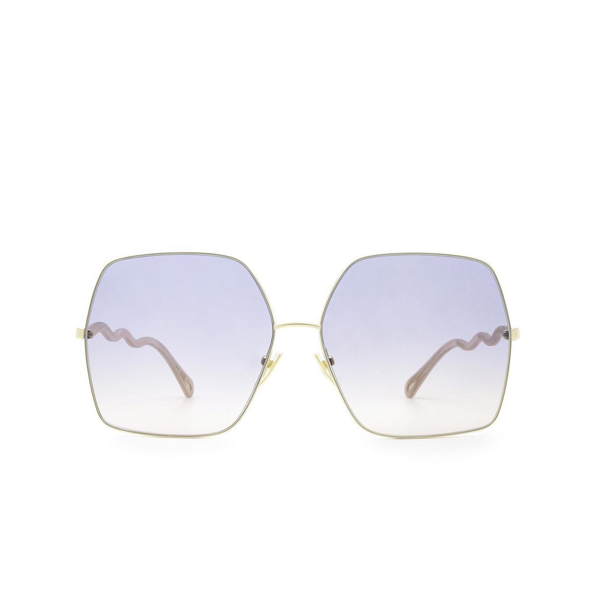Chloé® Square Sunglasses: CH0054S color Gold 004 - front view.