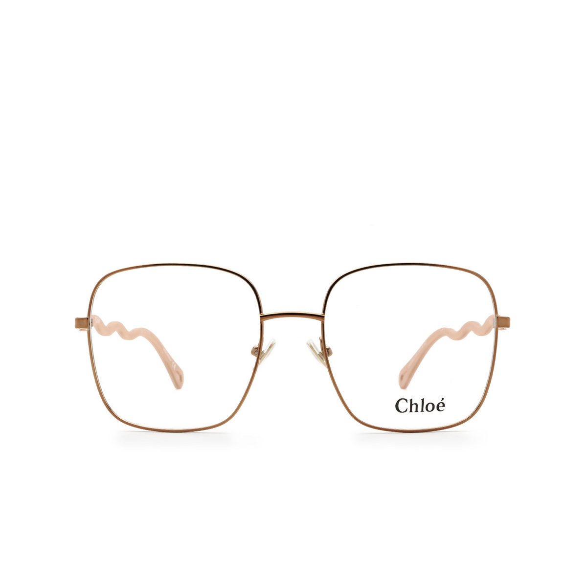 Chloé® Square Eyeglasses: CH0056O color Pink 001 - front view.