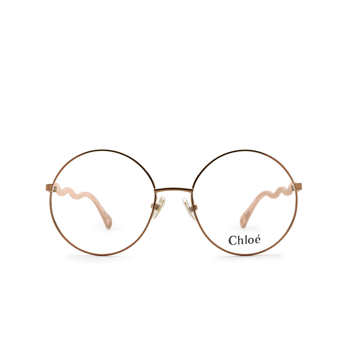 Chloé® Round Eyeglasses: CH0057O color Pink 001 - front view.
