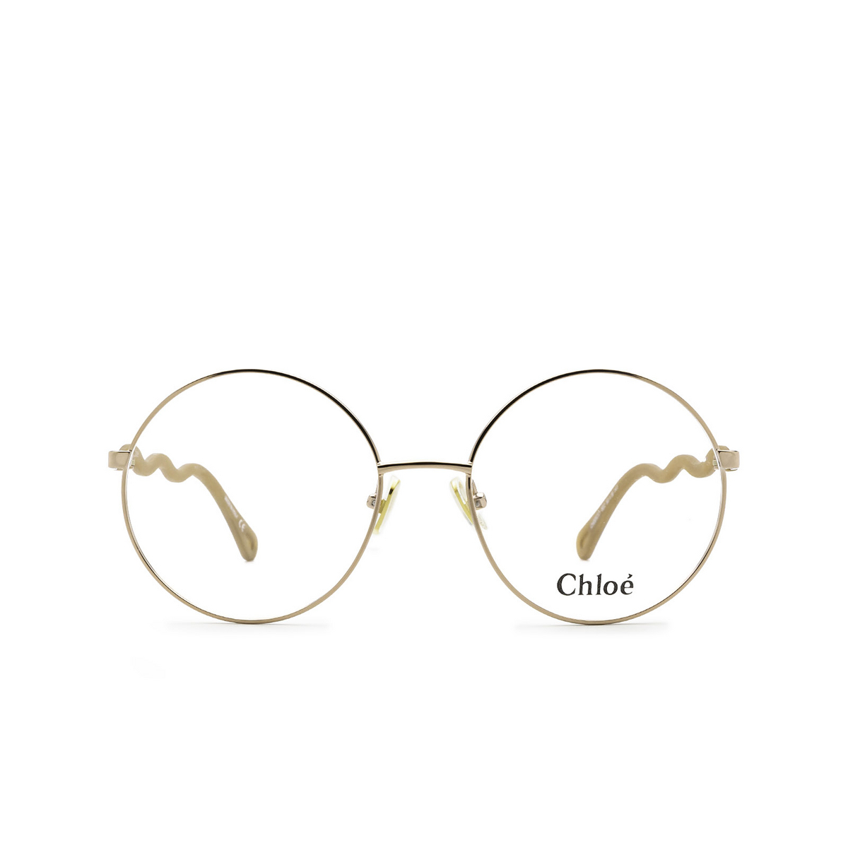 Chloé® Round Eyeglasses: CH0057O color Brown 002 - front view.