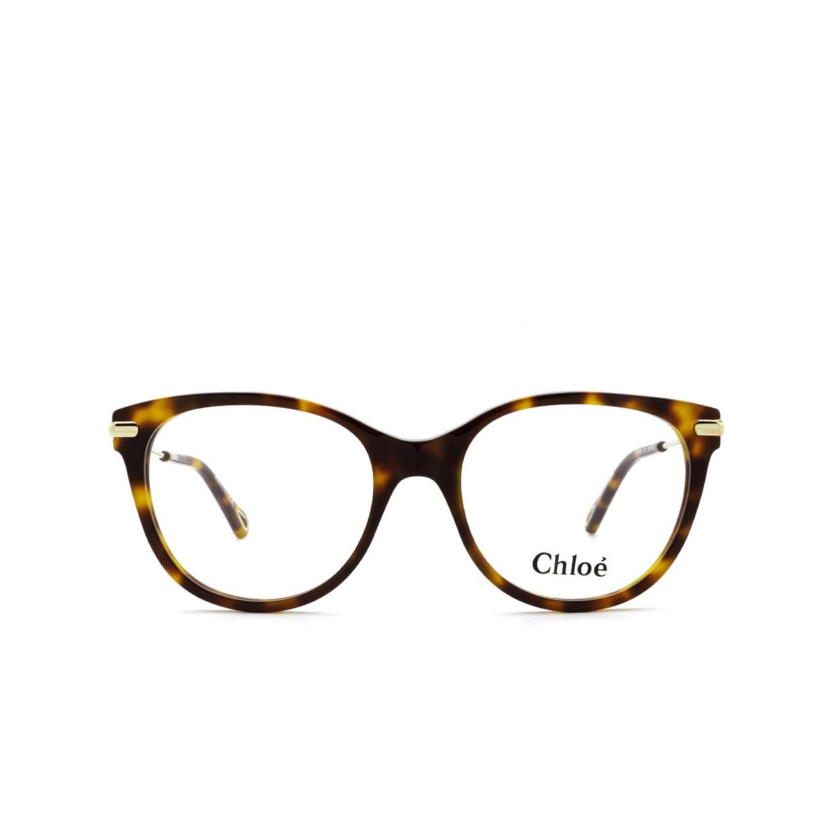 Chloé® Cat-eye Eyeglasses: CH0058O color Havana 001 - front view.