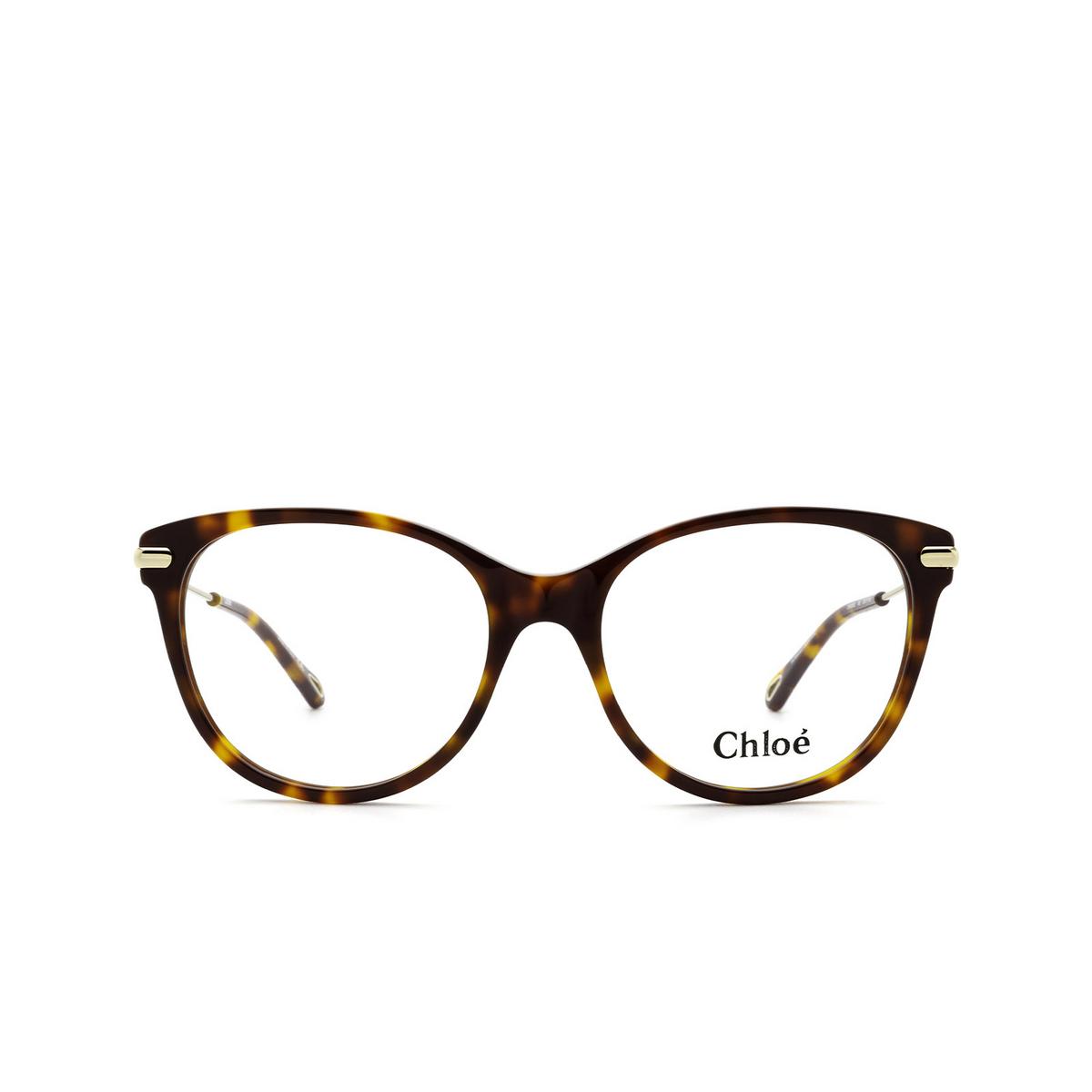 Chloé® Cat-eye Eyeglasses: CH0058O color Havana 005 - front view.