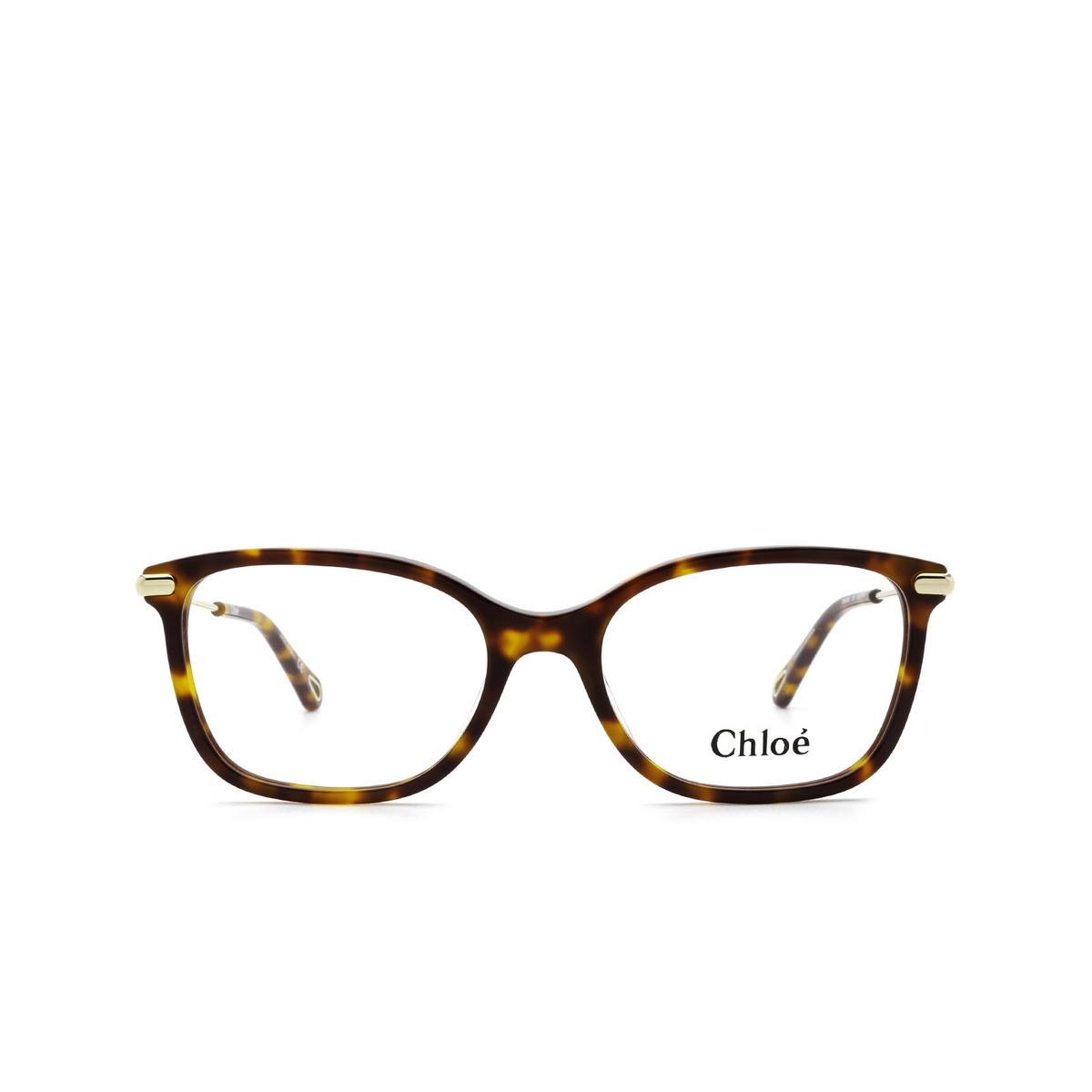 Chloé® Rectangle Eyeglasses: CH0059O color Havana 005 - front view.