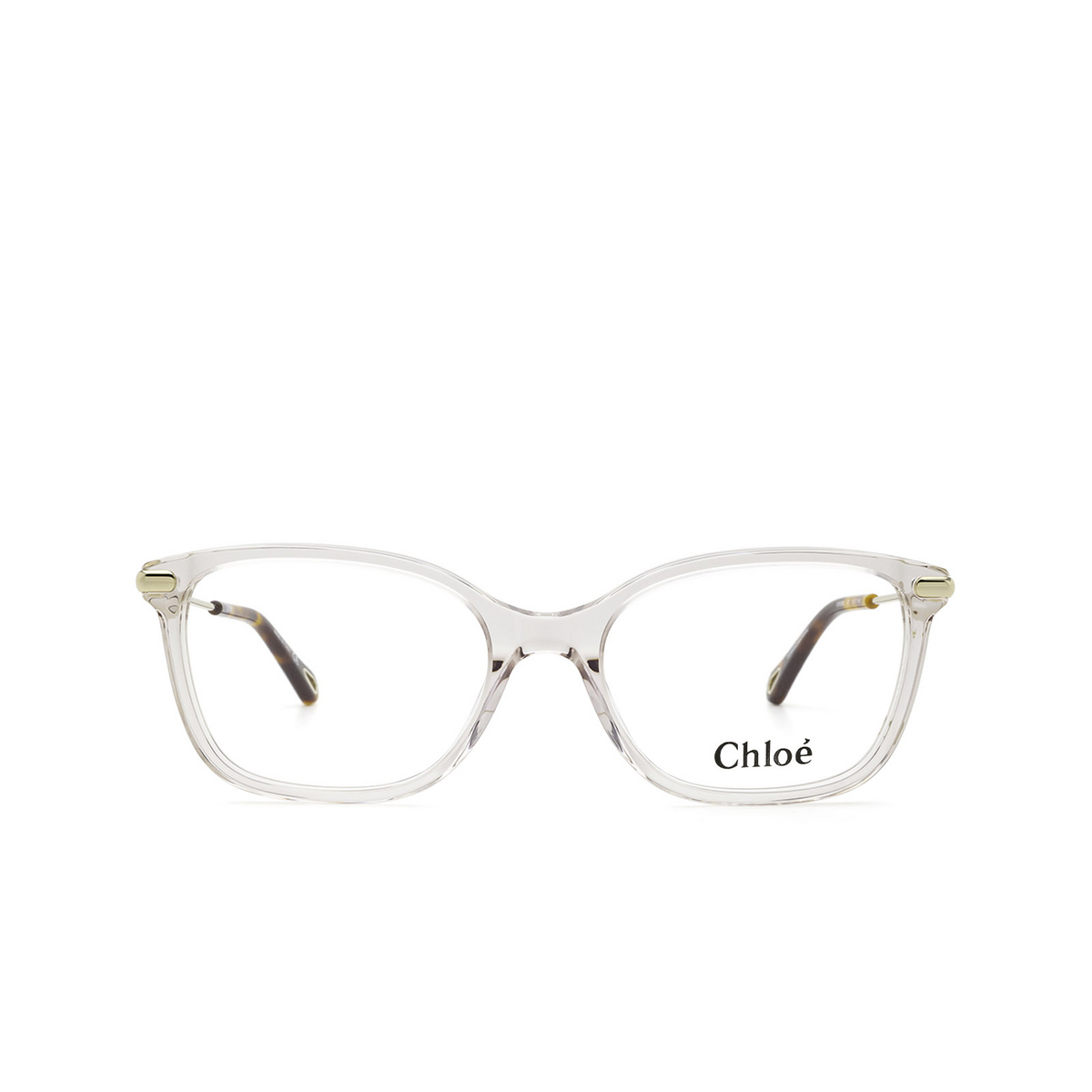Chloé® Rectangle Eyeglasses: CH0059O color Pink 007 - front view.