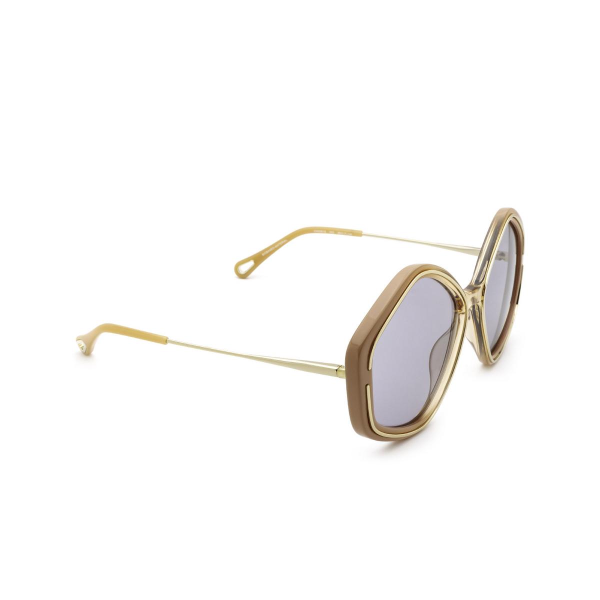 Chloé® Irregular Sunglasses: CH0061S color Nude 002 - three-quarters view.