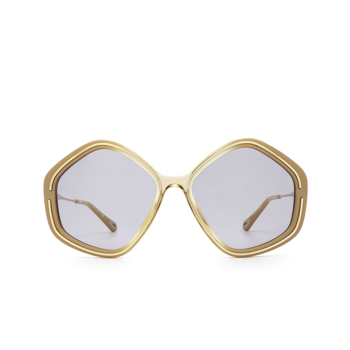 Chloé® Irregular Sunglasses: CH0061S color Nude 002 - front view.