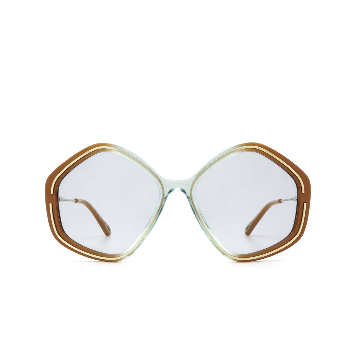 Chloé® Irregular Sunglasses: CH0061S color Brown 003 - front view.
