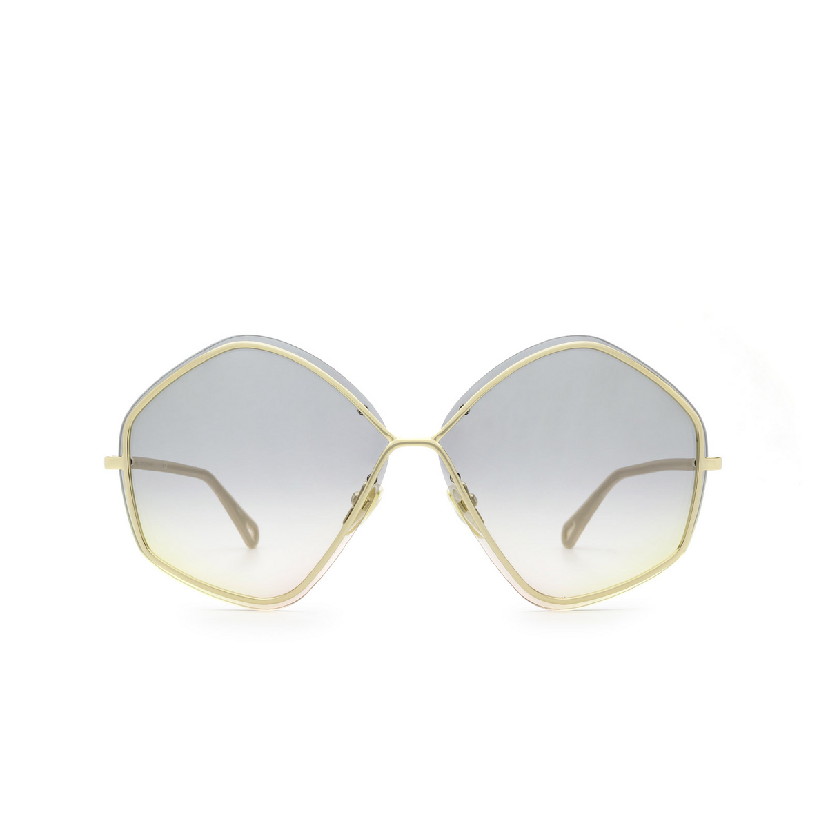 Chloé® Irregular Sunglasses: CH0065S color Gold 001 - front view.