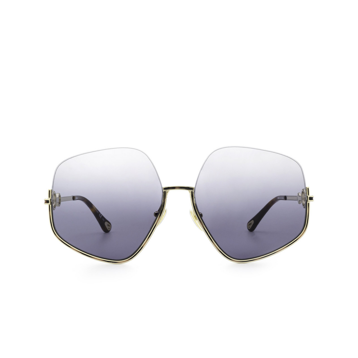 Chloé® Irregular Sunglasses: CH0068S color Gold 001 - front view.