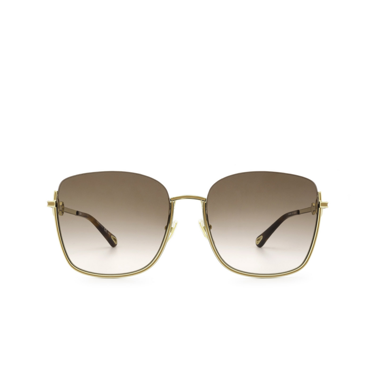 Chloé® Square Sunglasses: CH0070SK color Gold 003 - front view.