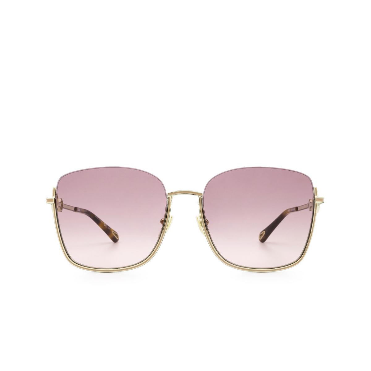 Chloé® Square Sunglasses: CH0070SK color Gold 004 - front view.