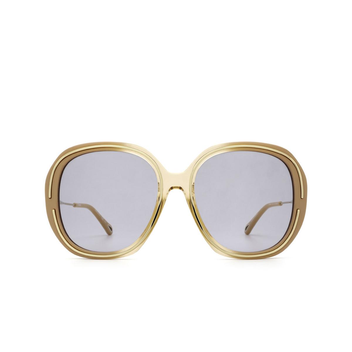Chloé® Square Sunglasses: CH0078SA color Nude 002 - front view.