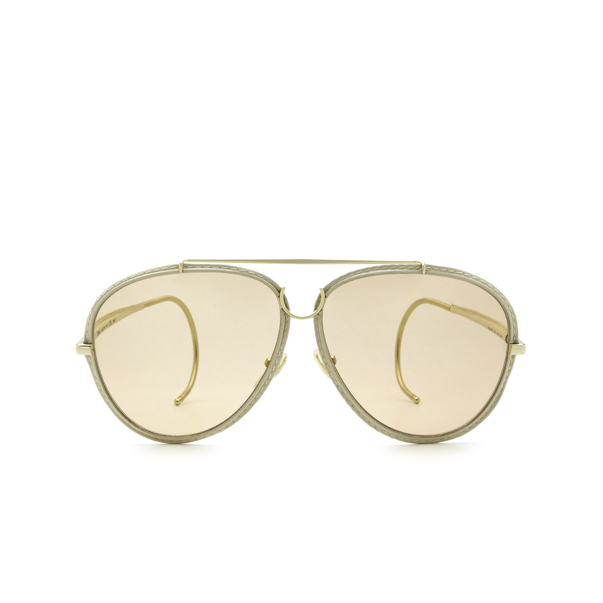 Chloé® Aviator Sunglasses: CH0080S color Gold 001 - front view.
