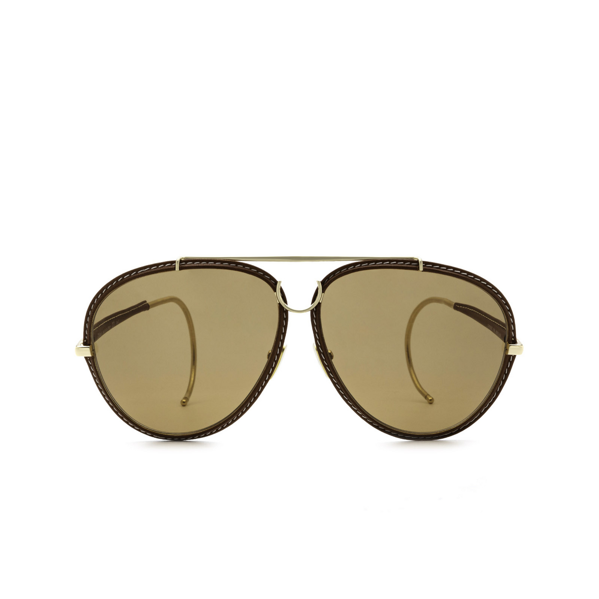 Chloé® Aviator Sunglasses: CH0080S color Gold 004 - front view.