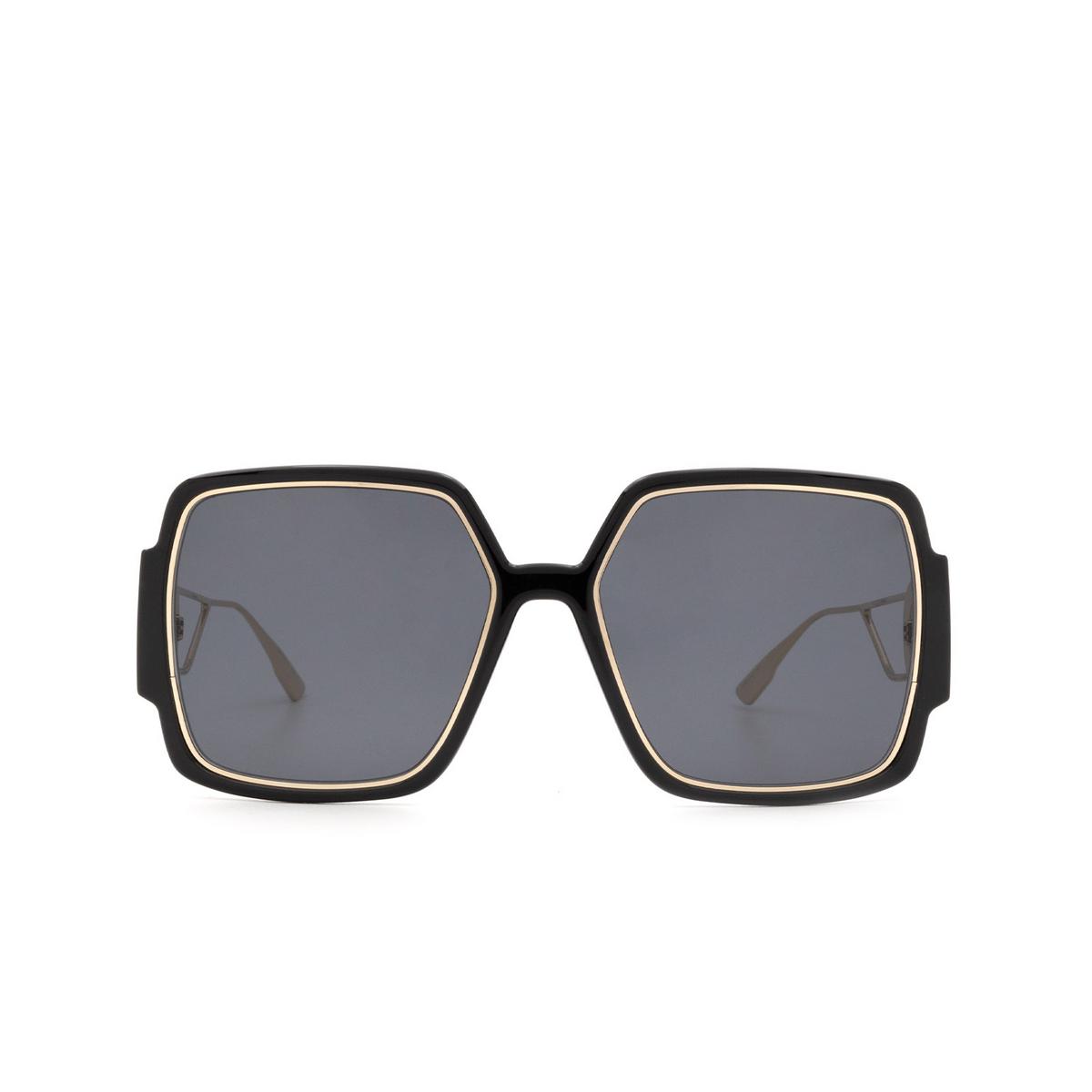 Dior® Square Sunglasses: 30MONTAIGNE2 color Black Gold 2M2/2K - front view.