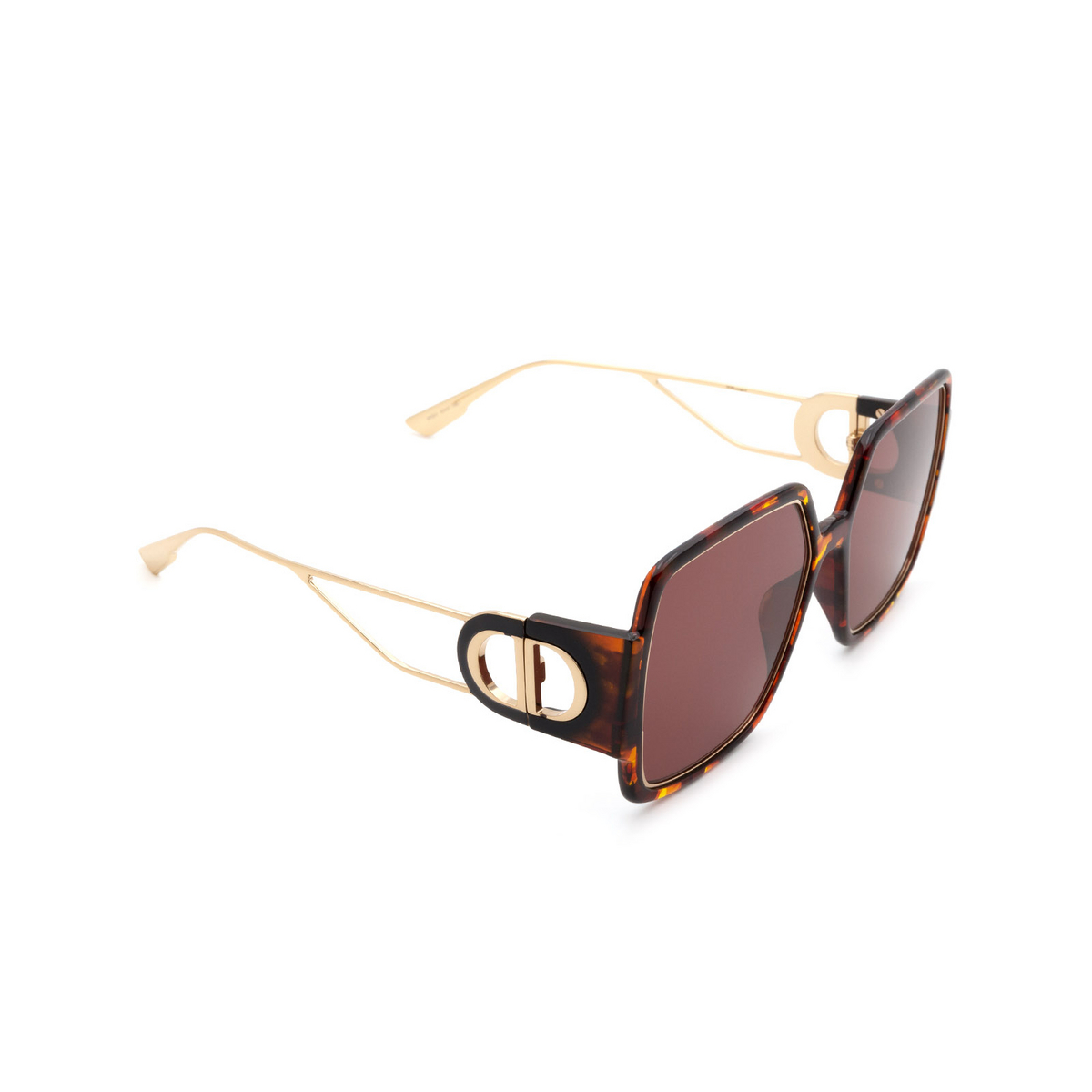 Dior® Square Sunglasses: 30MONTAIGNE2 color Havana EPZ/U1 - three-quarters view.