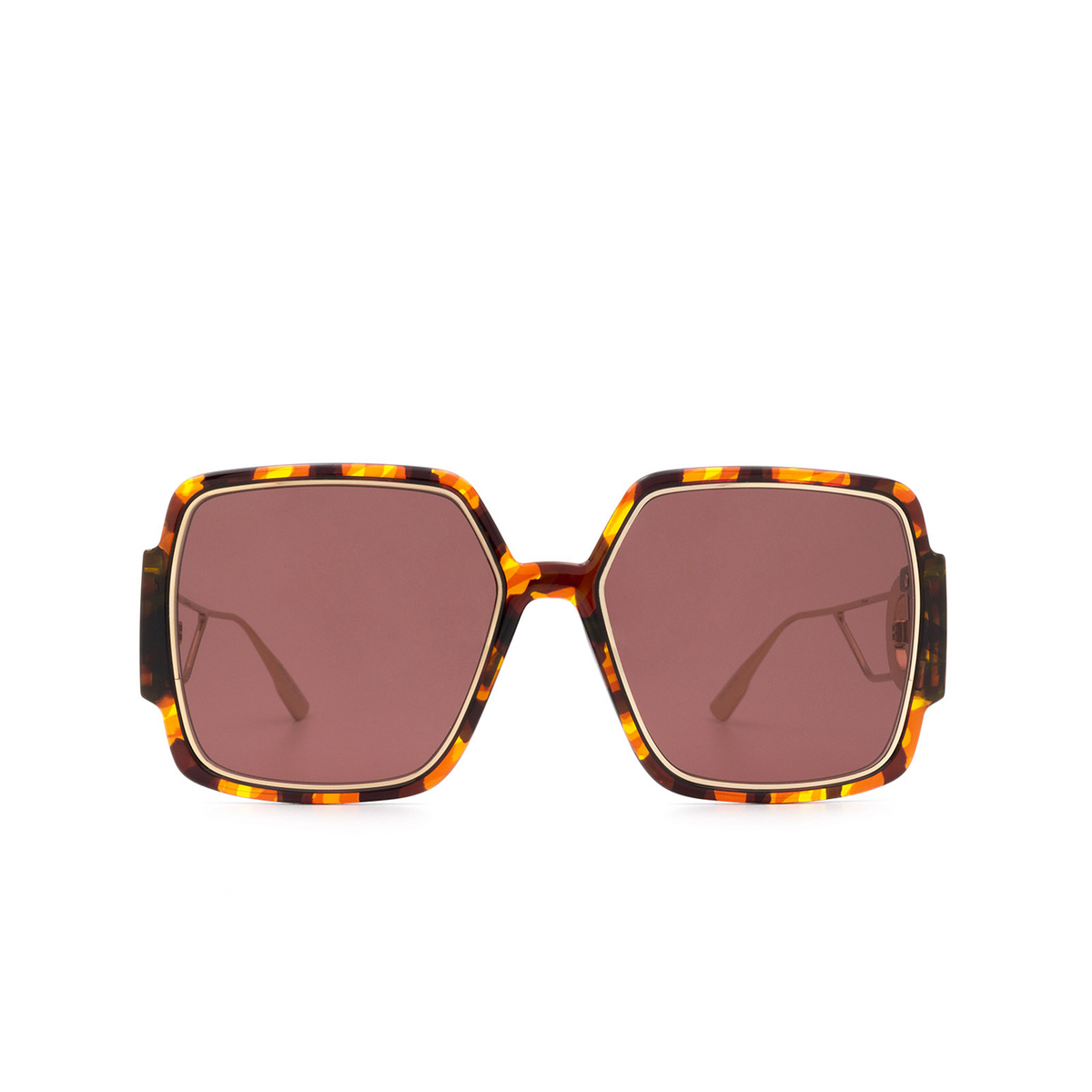 Dior® Square Sunglasses: 30MONTAIGNE2 color Havana EPZ/U1 - front view.
