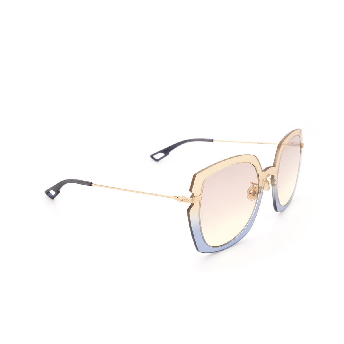 Dior® Square Sunglasses: DIORATTITUDE1 color Brown Blue 3LG/VC.