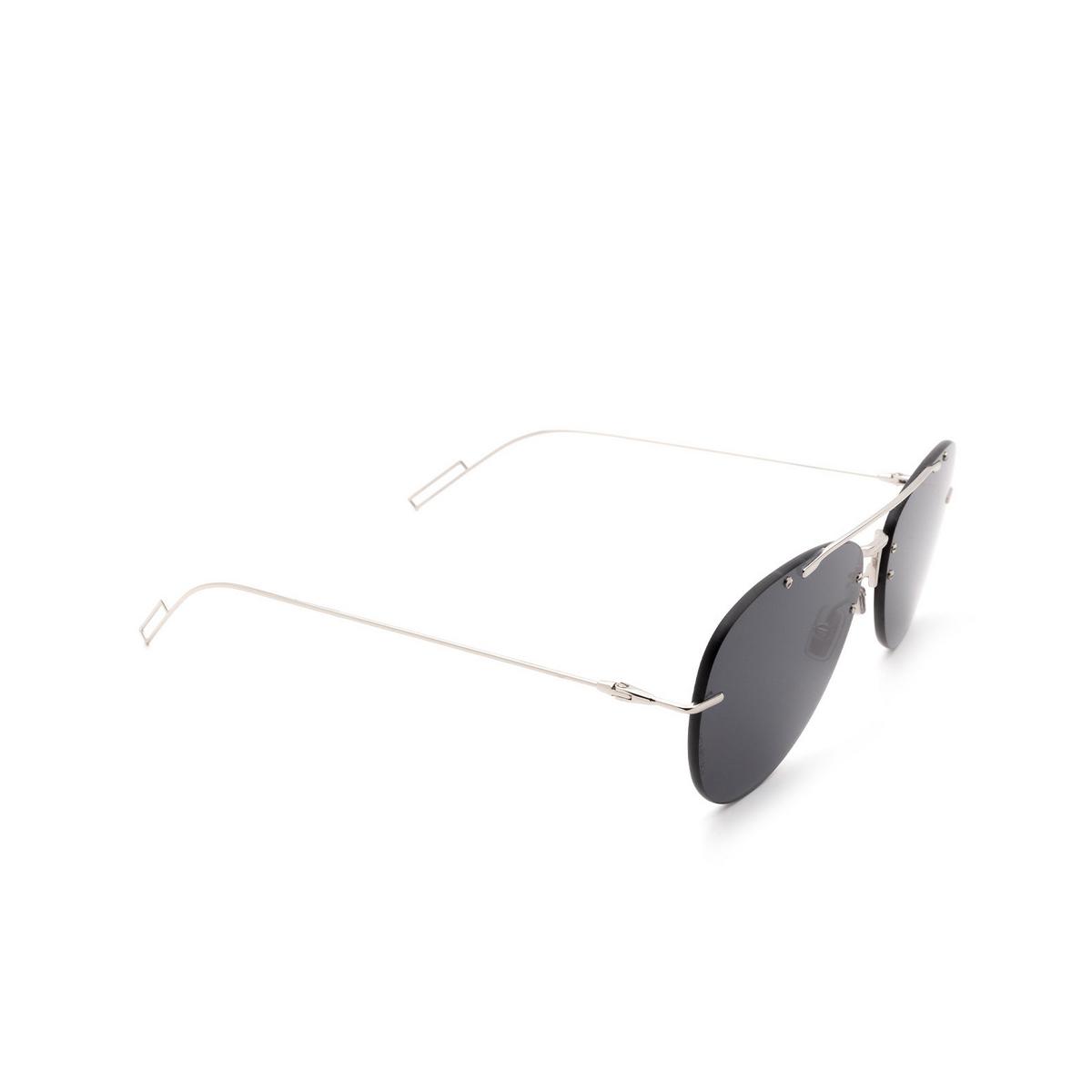 Dior® Aviator Sunglasses: DIORCHROMA1F color Palladium 010/2K - three-quarters view.
