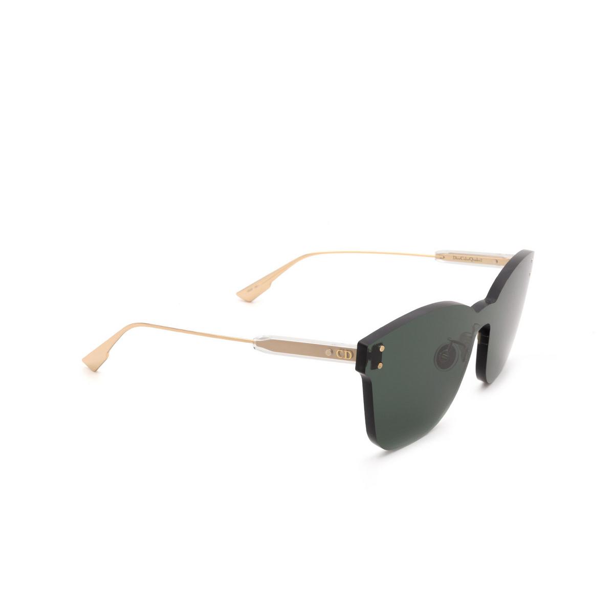 Dior® Mask Sunglasses: DIORCOLORQUAKE2 color Green 1ED/QT - three-quarters view.
