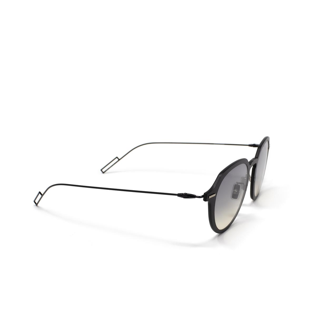 Dior® Round Sunglasses: DIORDISAPPEAR1 color Matte Black 003/1I.