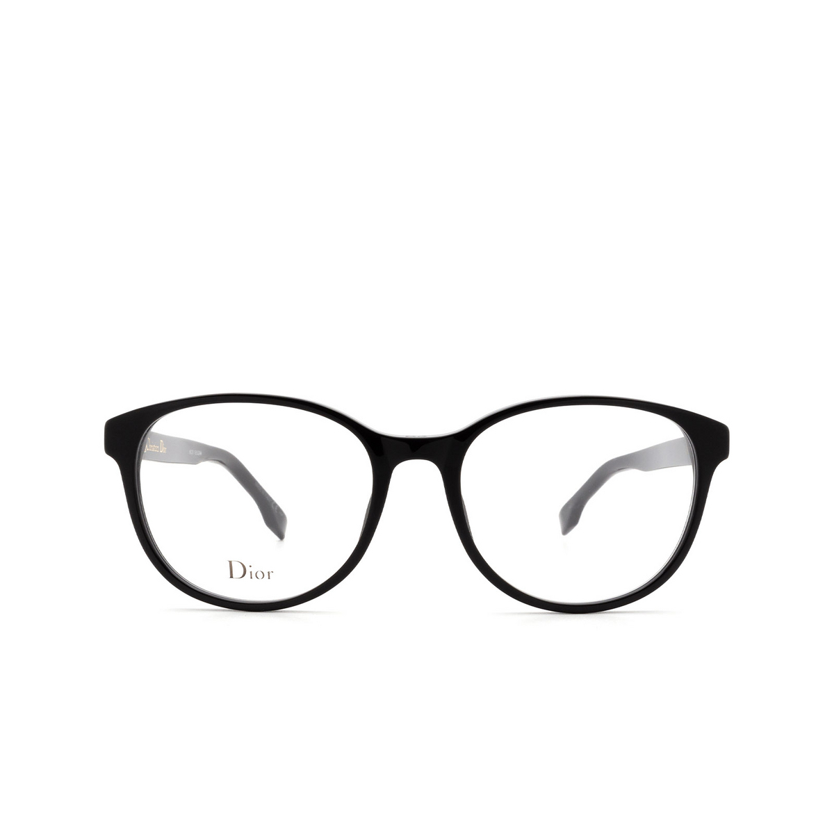 Dior® Butterfly Eyeglasses: DIORETOILE1 color Black 807 - front view.