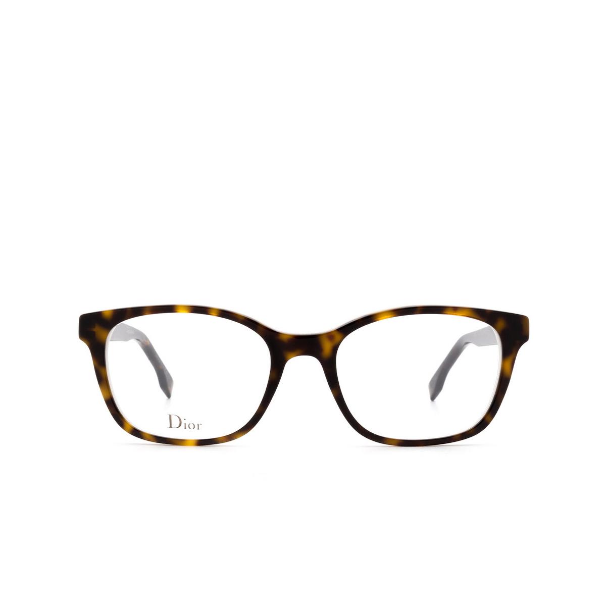 Dior® Butterfly Eyeglasses: DIORETOILE2 color Dark Havana C1H - front view.