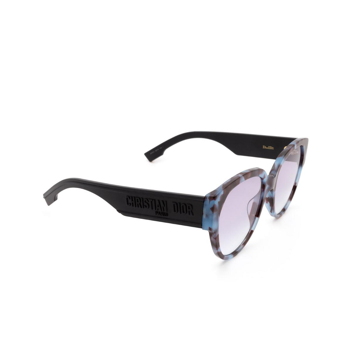 Dior® Butterfly Sunglasses: DIORID2 color Blue Havana Jbw/so.