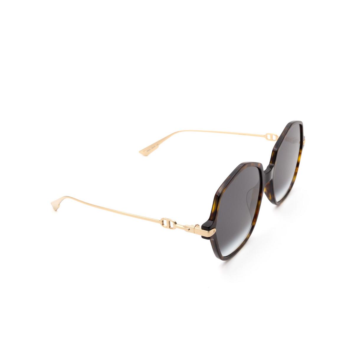 Dior® Butterfly Sunglasses: DIORLINK2 color Havana 086/9O.