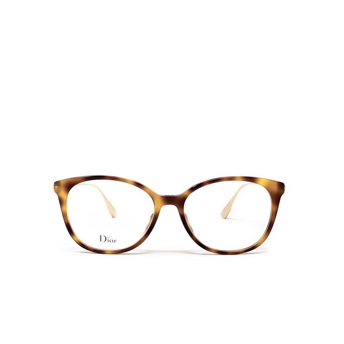 Dior® Round Eyeglasses: DIORSIGHTO1 color Havana 086.