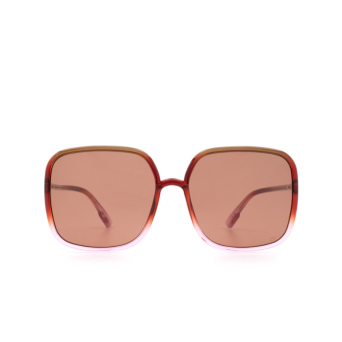 Dior® Square Sunglasses: SOSTELLAIRE1 color Brown Gradient Pink 59I/ZK.