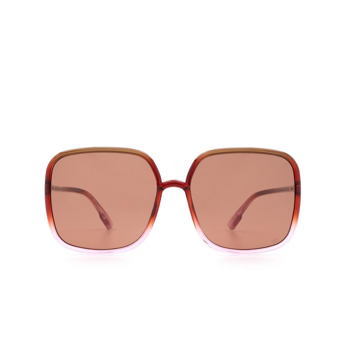 Dior® Square Sunglasses: SOSTELLAIRE1 color Brown Gradient Pink 59I/ZK.
