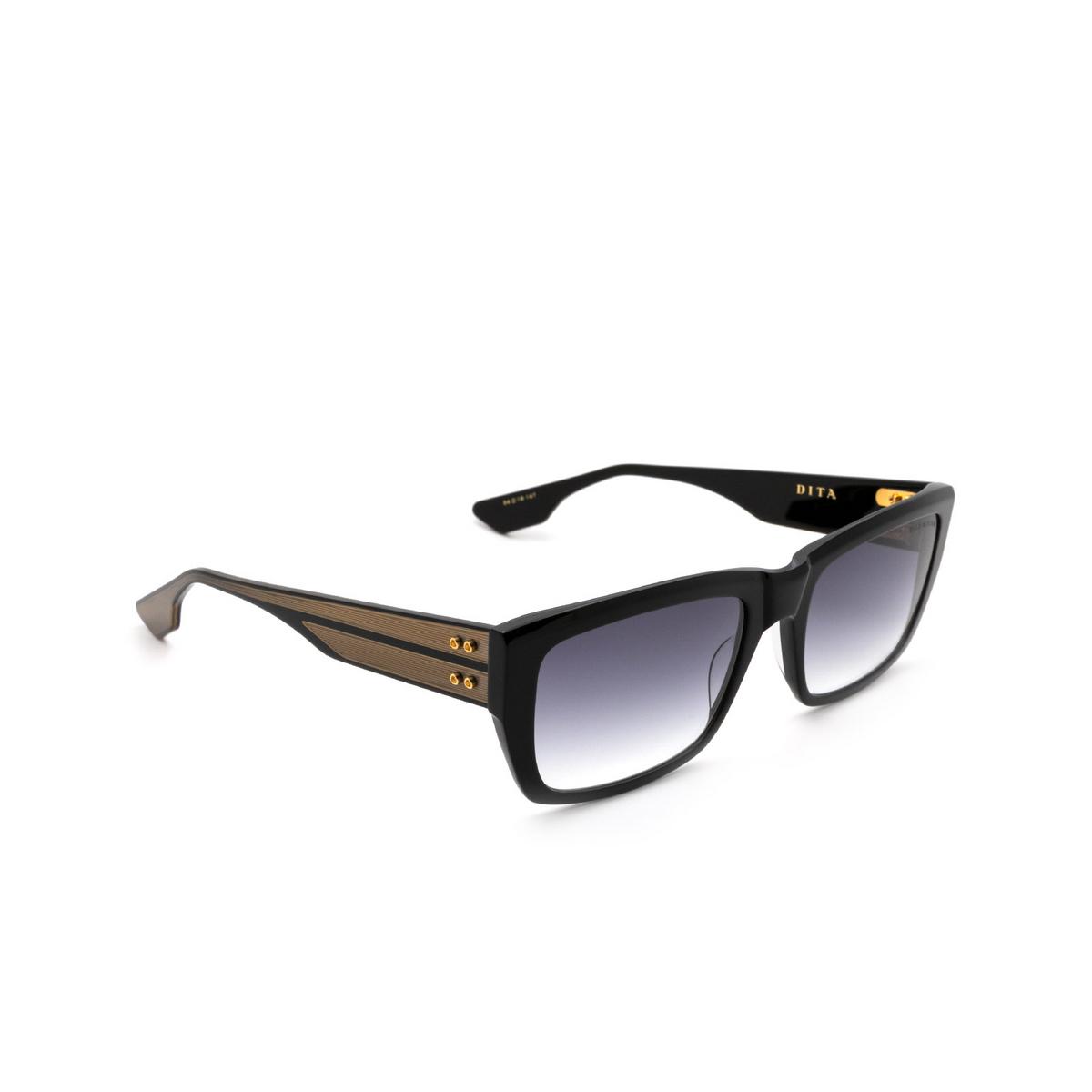 Dita® Rectangle Sunglasses: Alican DTS404-A-01 color Black Blk.