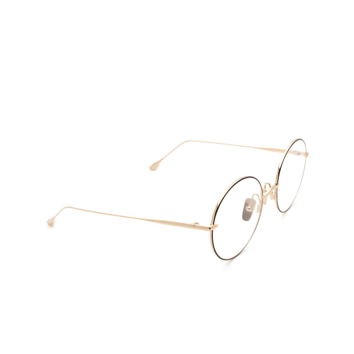Dita® Round Eyeglasses: Believer DTX506-52-03-Z color Black & Gold Blk-gld.